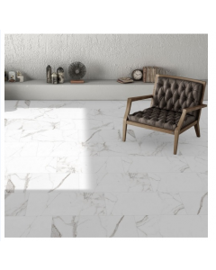 Halcon Ceramica Palatina White Porcelain Matt Wall and Floor Tiles 60x30