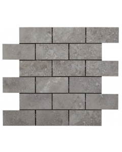 Valley Grey Glazed Porcelain Brick Mosaic 96x47mm