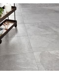 Atlanta Dark Grey Glazed Porcelain 600x1200mm