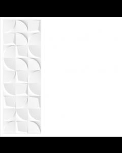 Tau Ceramica Bianchi Creazzo White Curve Gloss Tiles 90x30