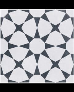 Cuban White Star Tile - 223x223mm