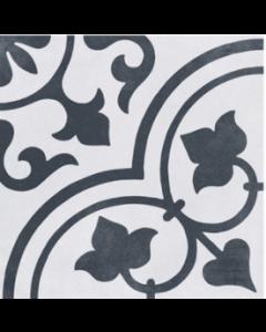 Cuban White Ornate Tile - 223x223mm