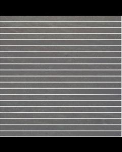 Pietra Pienza Dark Grey Matt Mosaic Tile - 300x15mm