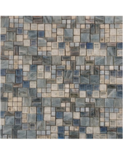 Marshalls Tile & Stone Blue Amber Mosaic 317x321x6mm