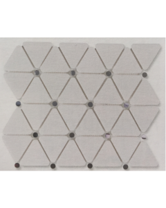 Marshalls Tile & Stone Hibisco White Mosaic – 250x300x8mm