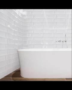 Aria White 10x30cm Tiles