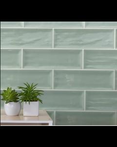 Aria Green 10x30cm Tiles