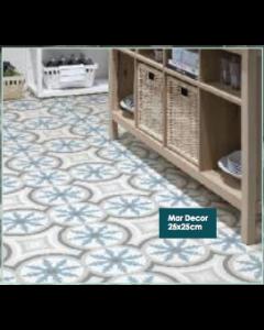 Keros Ceramica Barcelona Mar Pattern 25x25cm Tiles