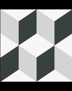 Barcelona Cube Pattern 25x25cm Tiles