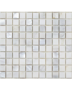 Bari White Marble & Mother of Pearl Mosaic 20x20mm