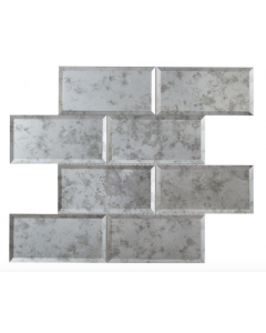 Lumiere Bevel Antique Mirror Brick Mosaic 75x150mm