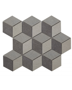 Verona Art Rock Monochrome Cubis Glazed Porcelain Mosaic