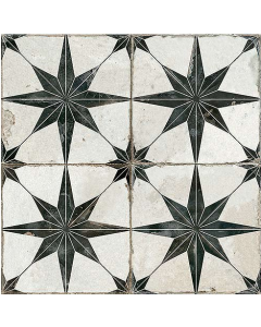 Vintage Industrial 45 Tiles Star Black Scintilla 450x450 Tiles