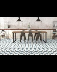 Vintage Industrial 45 Tiles Star Blue Scintilla 450x450 Tiles