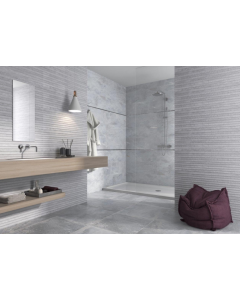 Gemini Tile Keraben Nature Concept Grey Tile - 240x690mm