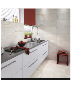 Gemini Tiles Vitra Rainforest White Porcelain Wall and Floor Tiles 600x300mm