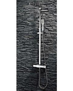 Scudo Bathrooms Showering Lunar Square Rigid Riser Shower