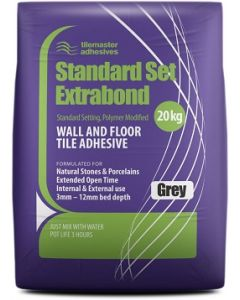 Tilemaster Adhesives Standard Set Extrabond Grey 20kg