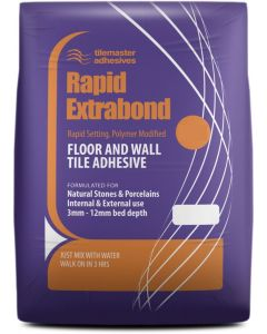 Tilemaster Adhesives Rapid Extrabond Grey C2 FT 20kg