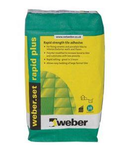 Weber Tile Adhesives Set Rapid Plus White 20kg