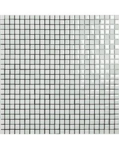 Smart Mosaic Tiles Malla 30x30 Kiss 1x1 White Tiles